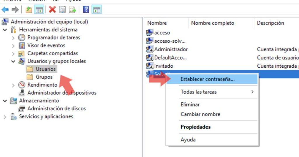 restablecer la contraseña de windows 10 sin formatear