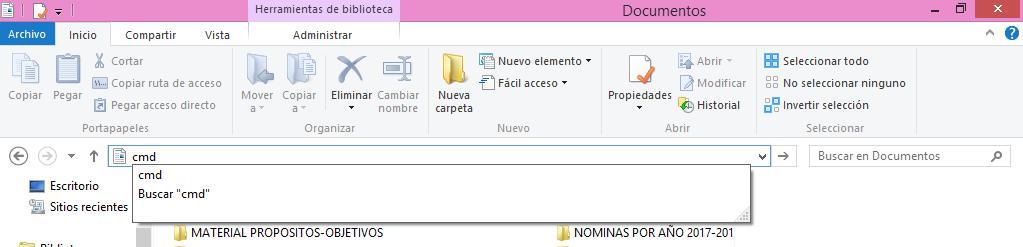Cómo abrir la consola de comandos en Windows 10 usando una ventana del explorador de Windows