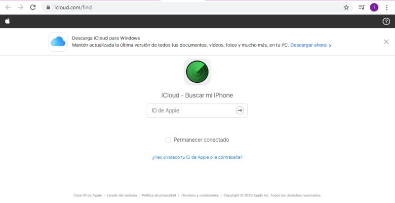 Inicia sesión en iCloud