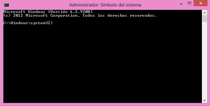 Símbolo del sistema, cmd, command, consola, windows