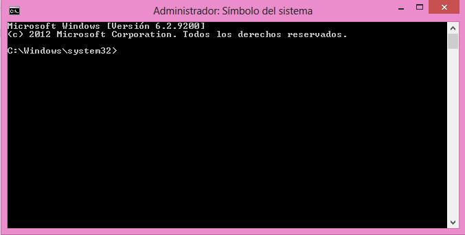 Símbolo del sistema, cmd, command, consola, windows