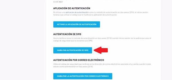 Activar la 2FA en Fortnite Vía SMS