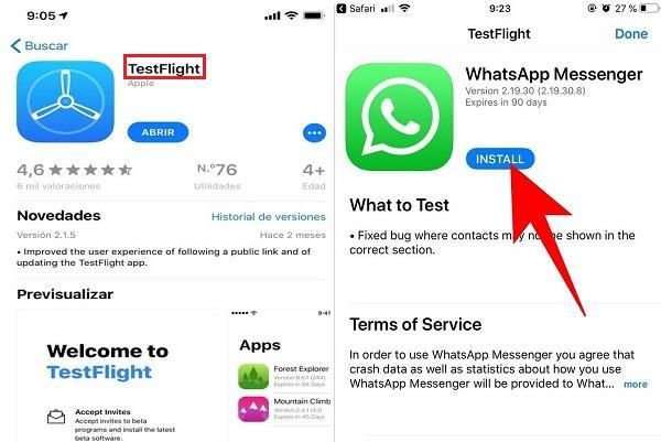 Whatsapp Beta para Iphone