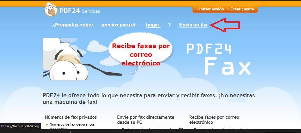 Enviar fax desde un servicio on line