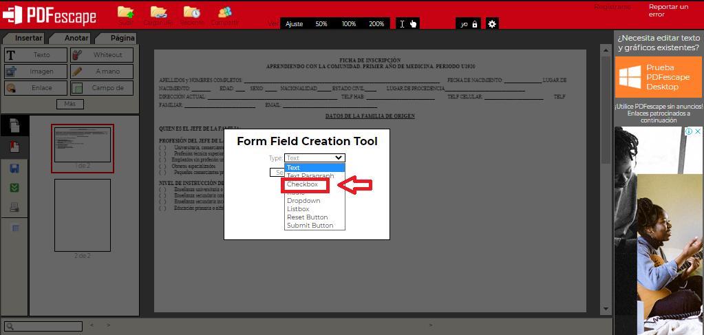 Cómo insertar cuadros de check en un archivo PDF