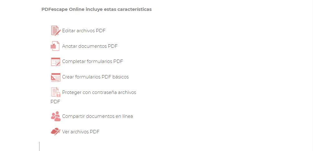 Para qué sirve PDFescape