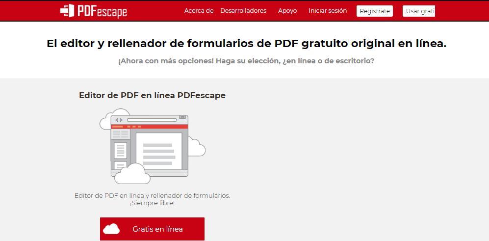 Cómo crear un PDF editable con PDFescape