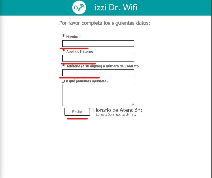 Atención al cliente Izzi 24/7.