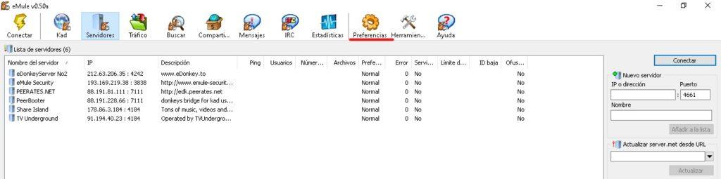 Cómo actualizar los servidores de eMule de forma Manual.