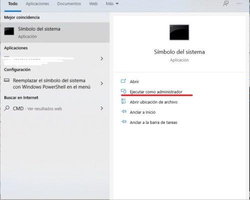 abrir simbolo de sistema o cmd en windows 10