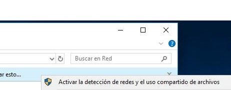 """Opción """"Activar la detección de redes""""."""