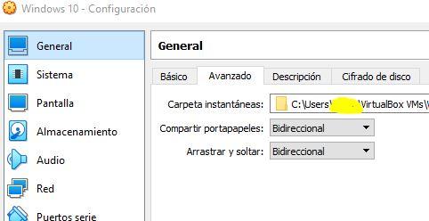 """Funciones de """"Compartir portapapeles"""" y """"Arrastrar y soltar"""" en modo """"bidireccional""""."""