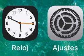 App de Ajustes de un iPhone.