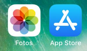 "App ""Fotos"" de un iPhone."