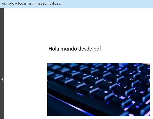 PDF firmado digitalmente, el cual muestra la imagen que se le insertó usando Autofirma.