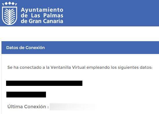 Sede electrónica del ayuntamiento de Las Palmas de Gran Canaria, la cual fue accedida usando la versión web de Autofirma.