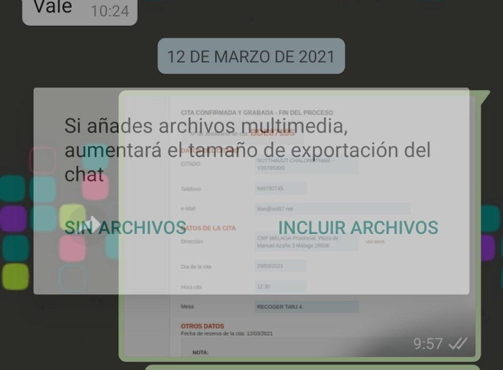 exportar chats whatsapp telegram en android