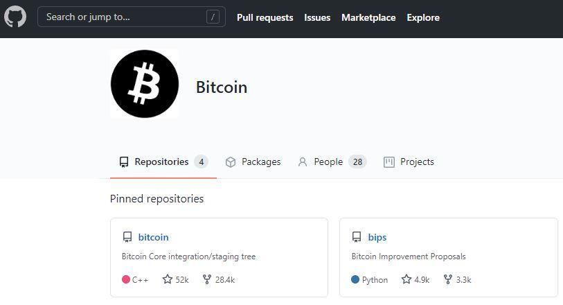 Repositorio de GitHub del bitcoin, en donde puedes descargar el código del blockchain del bitcoin.