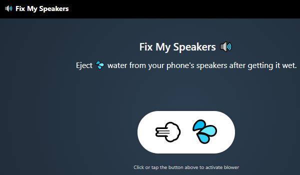 Página principal de Fix My Speakers.