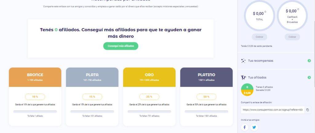 sistema de afiliados de consupermiso.com
