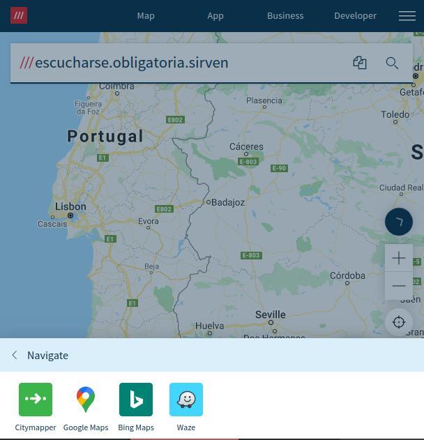 compartir ubicacion con What3Words