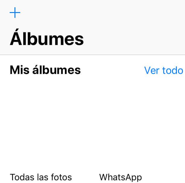 Galería de fotos de un iPhone.