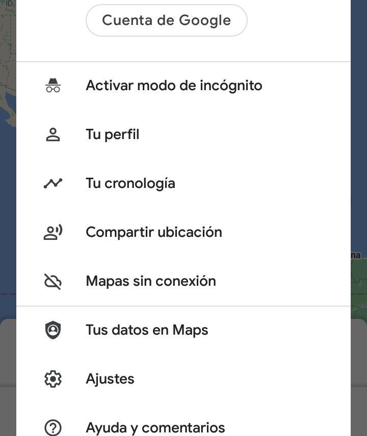 como activar el modo incognito en google maps