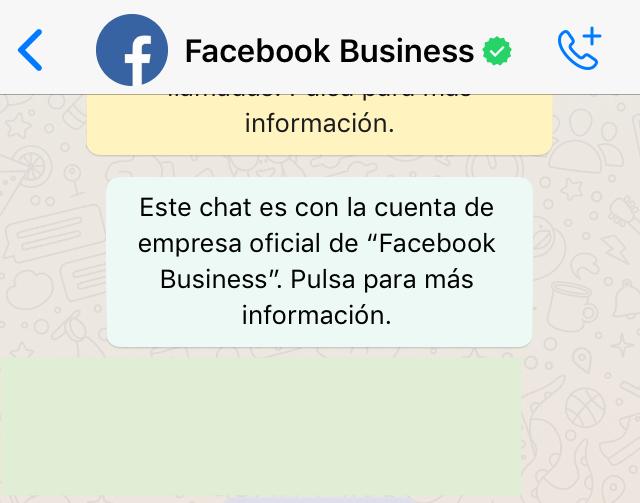 Chat de WhatsApp mostrando el nombre de un contacto en la parte superior de la ventana de la app.