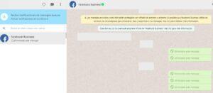 Versión web de WhatsApp mostrando un chat de un usuario.