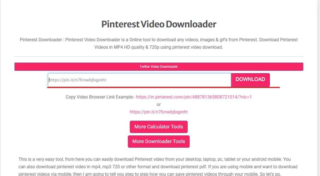 Experts PHP para descargar videos de pinterest