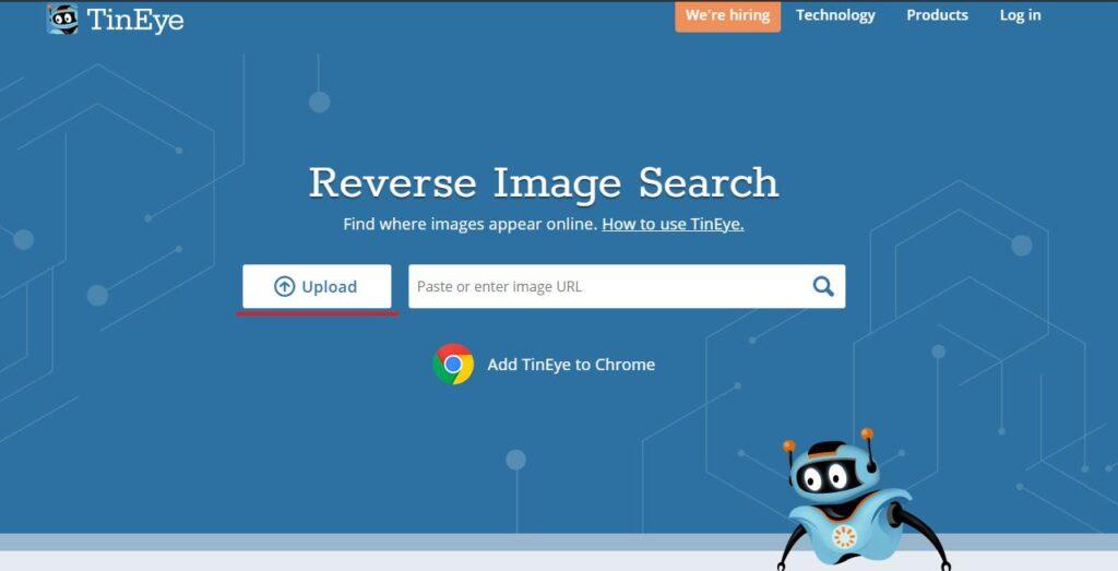 reverse search tineye