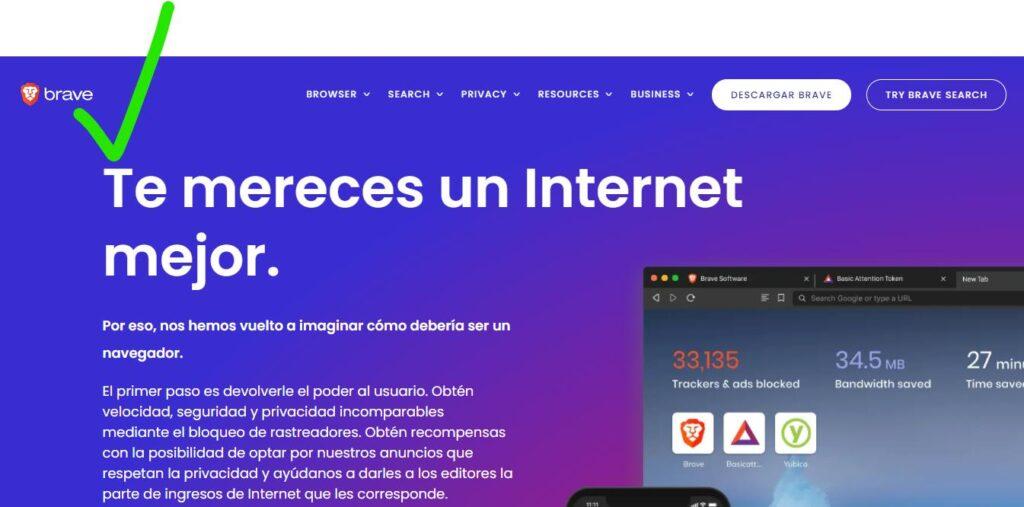 Brave navegador más privado