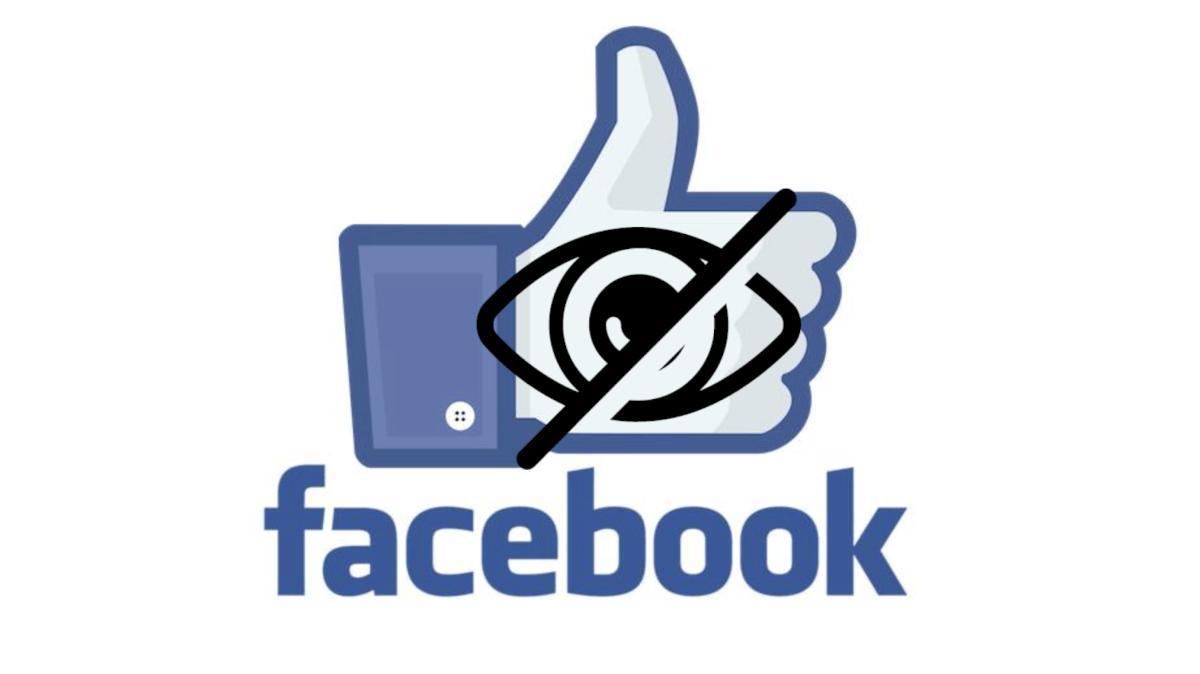 como ocultar likes de facebook